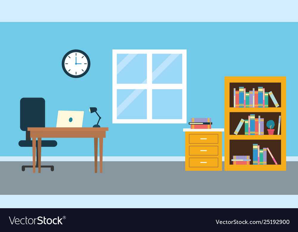 Office Workplace Background Royalty Free Vector Image