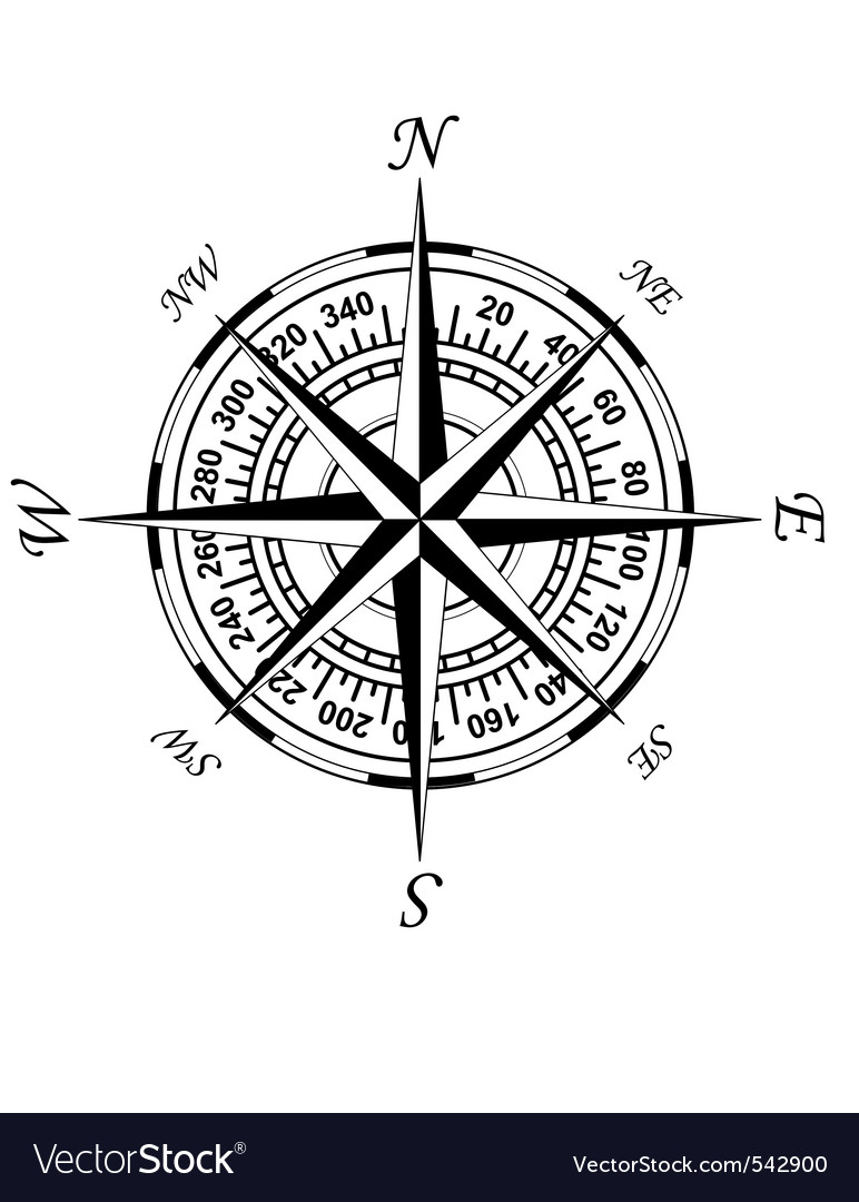 old compass royalty free vector image vectorstock rh vectorstock com compass vector free download compass vector free download