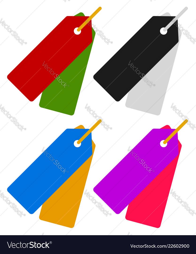 Price tag hang. Pair of tags labels
