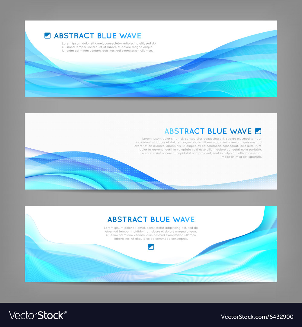 Set of wavy soft banners