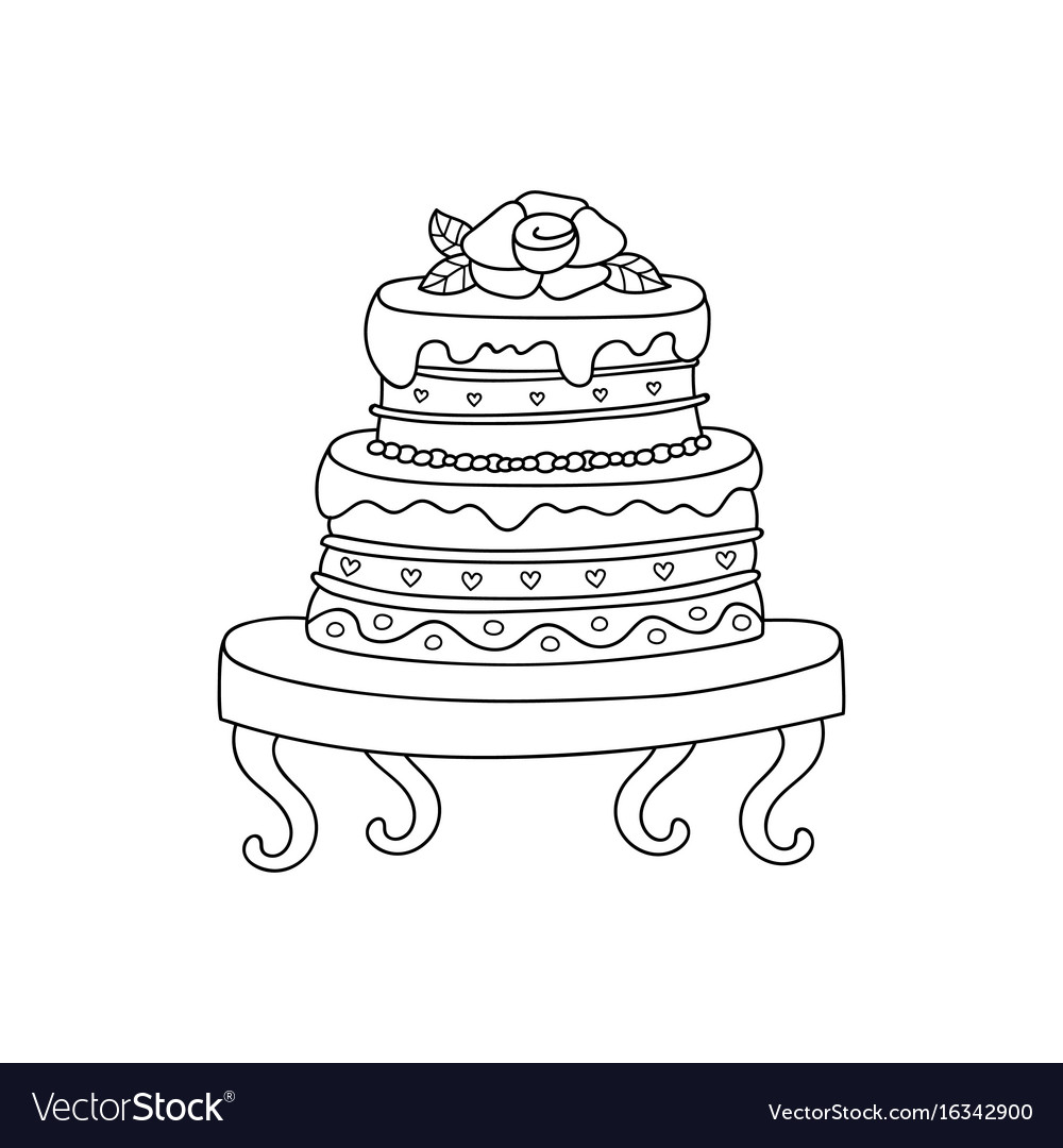 Wedding cake for wedding invitations or