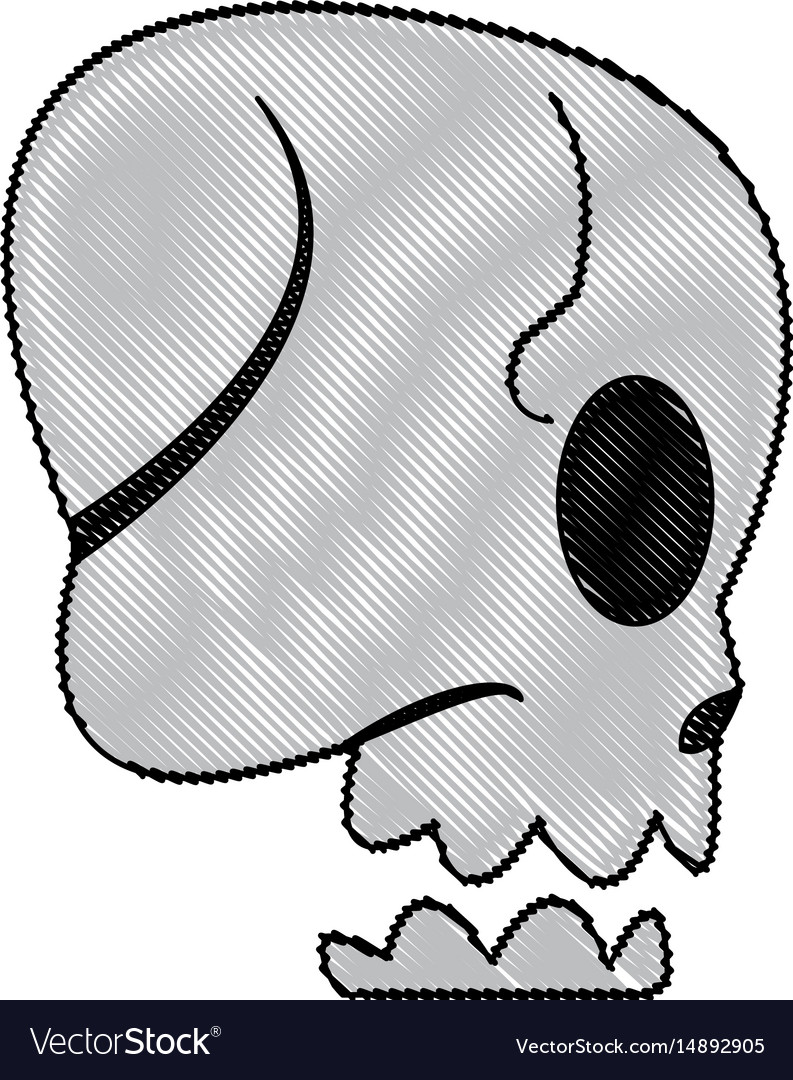 Cartoon skull bone fantasy character