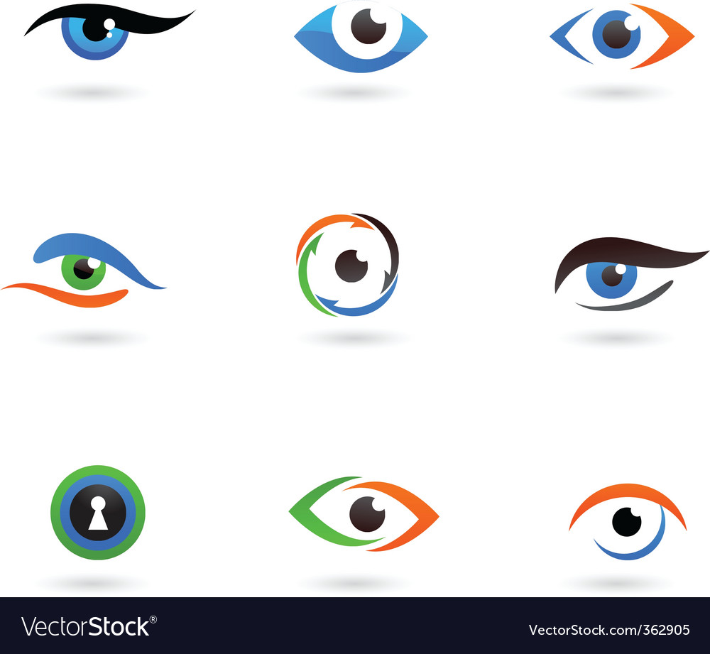 Eye logos vector image