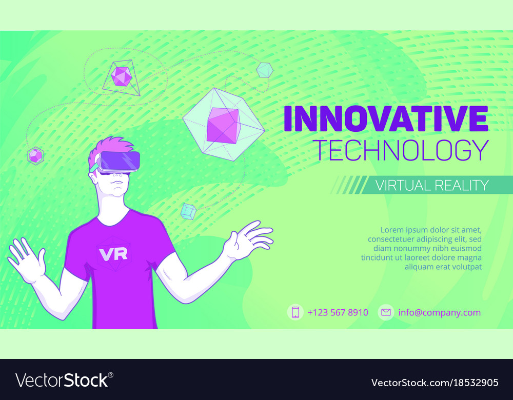 Futuristic virtual reality banner