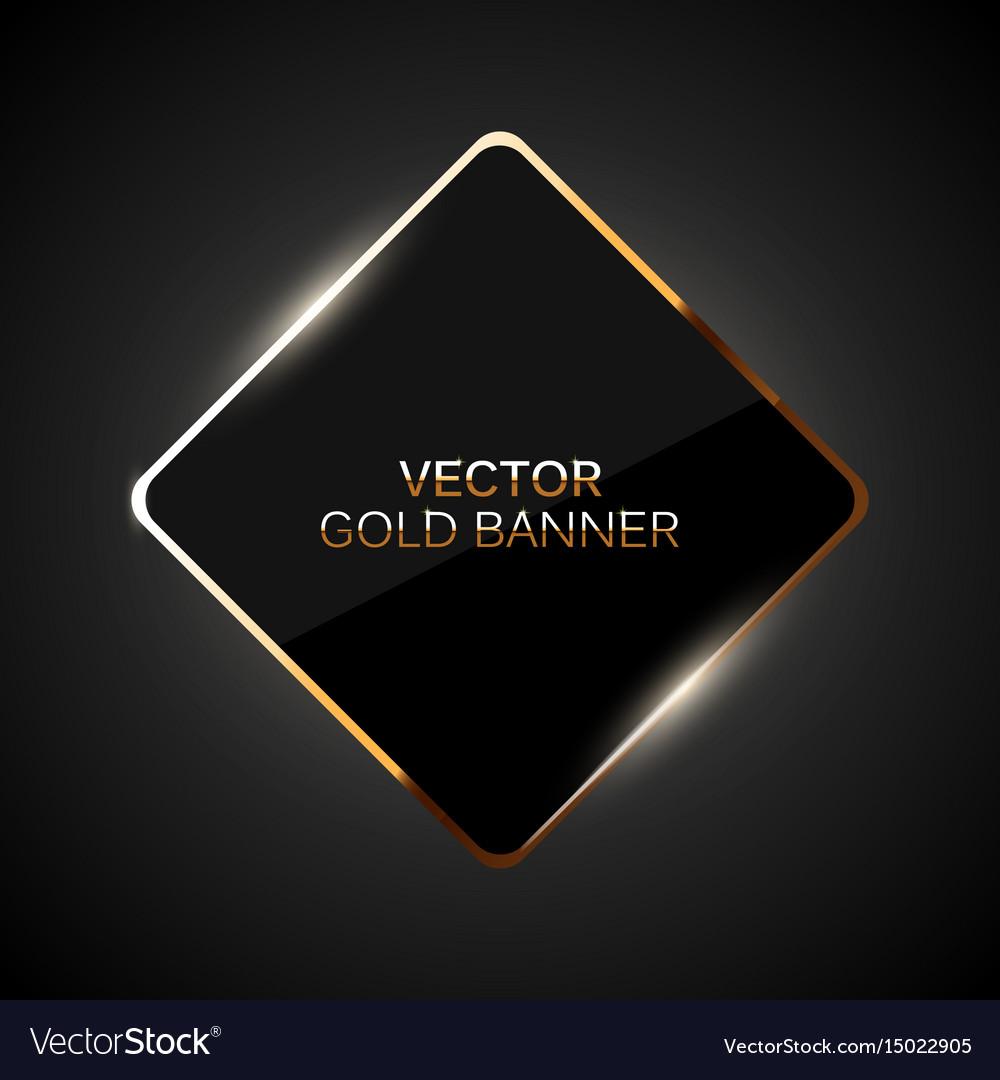 Golden frame banner