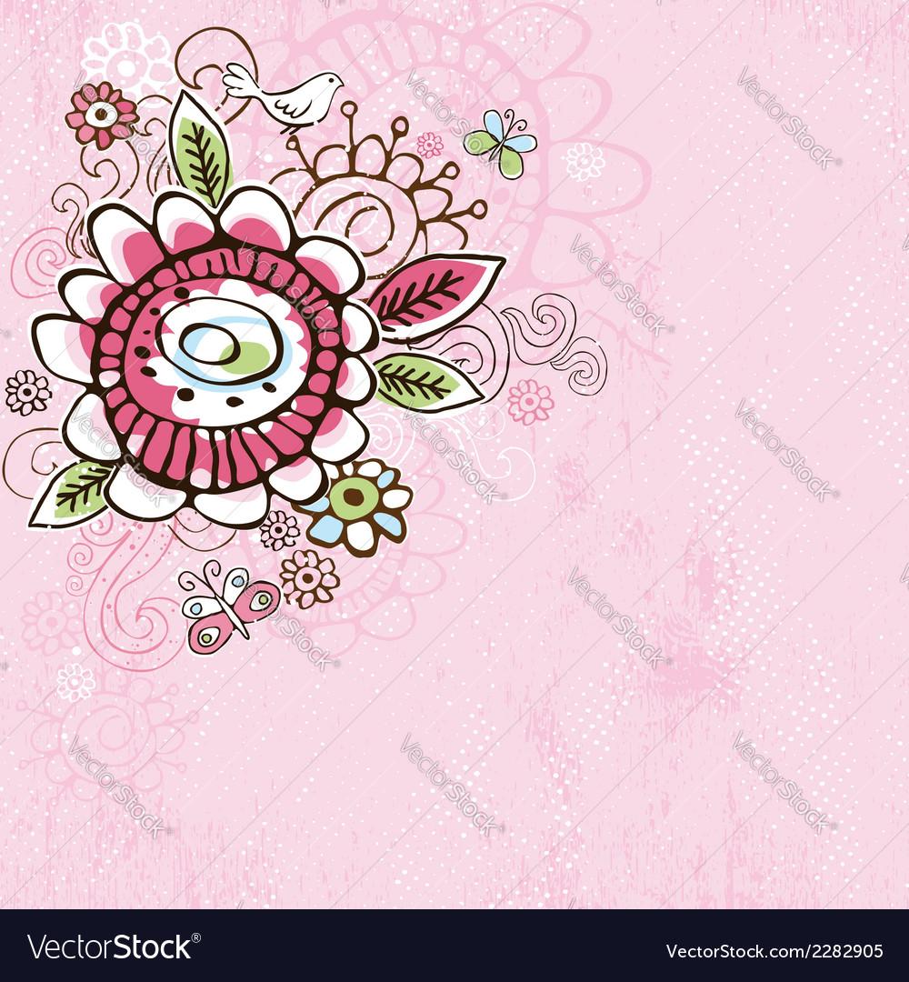 Pink Flower Drawings Topsimages