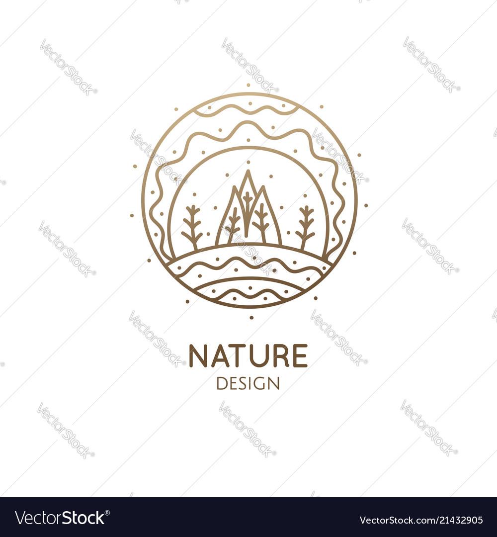 Nature linear logo landscape