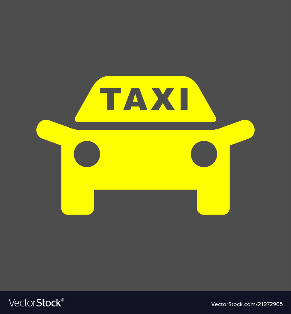 Taxi icon taxi sign silhouette