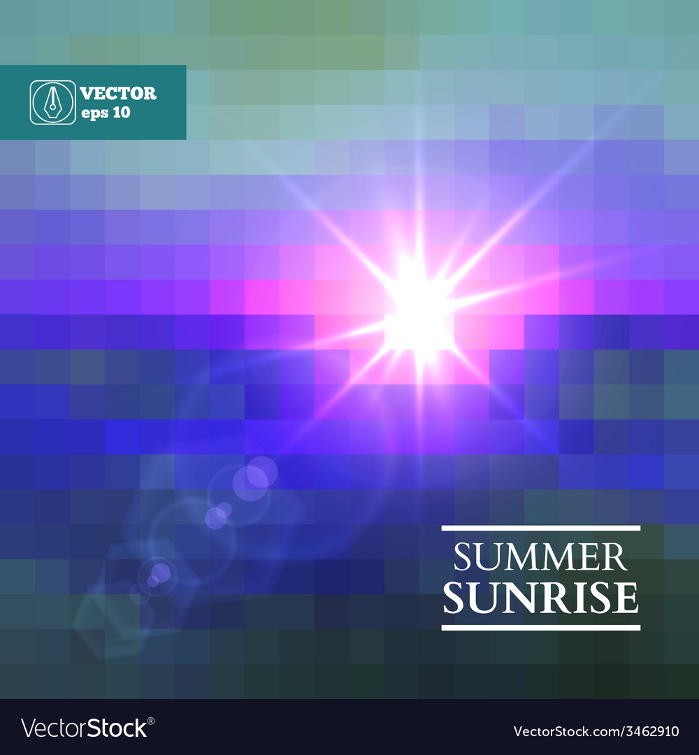 Abstract Summer Sunrise Background