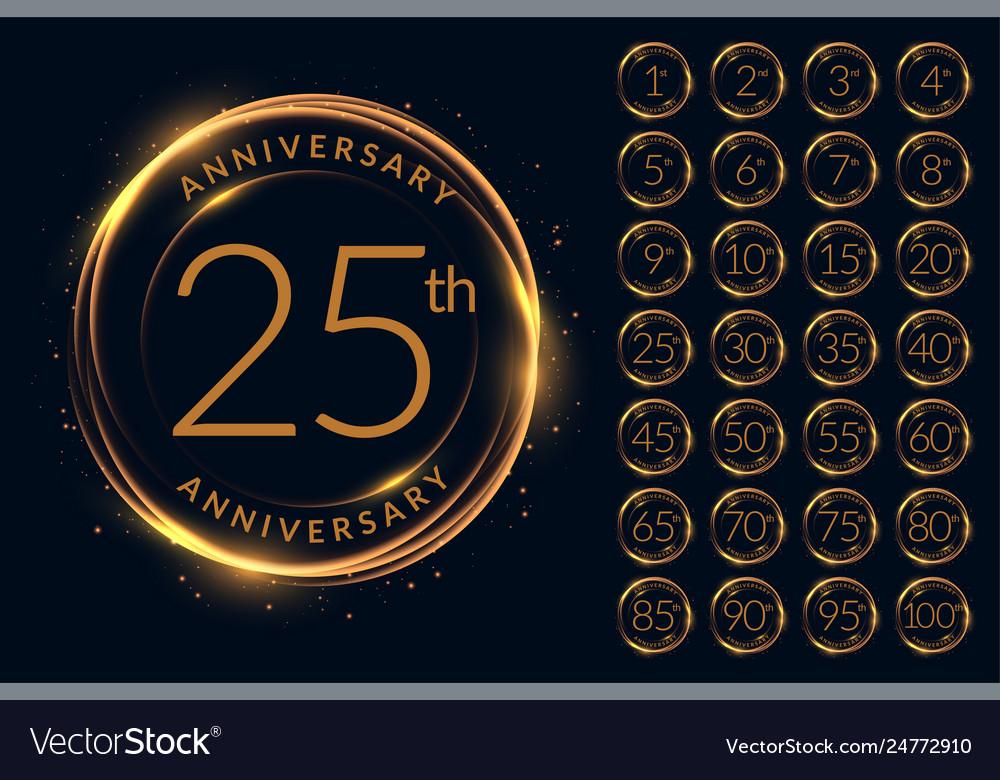 Anniversary logotype design big set