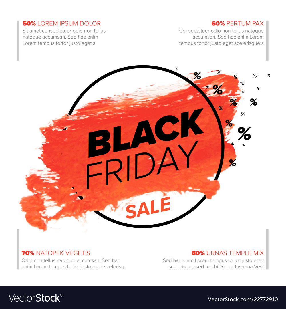 Black Friday Poster Flyer Template Royalty Free Vector Image