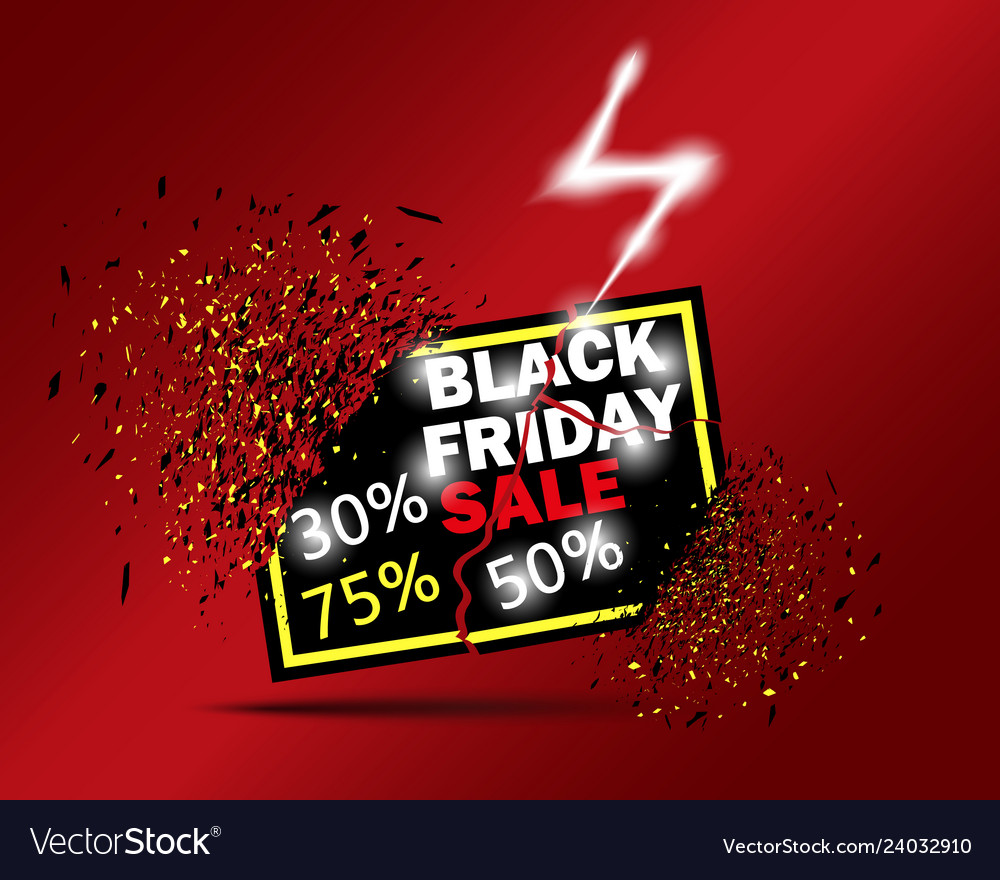 Black friday sale with 30 off 50 off 75 off