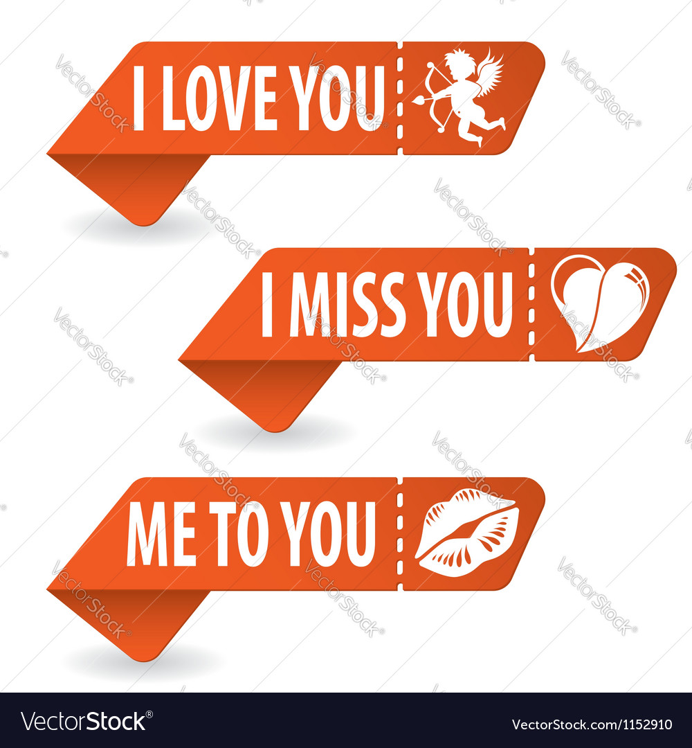 Collect Valentines Day Signs Royalty Free Vector Image