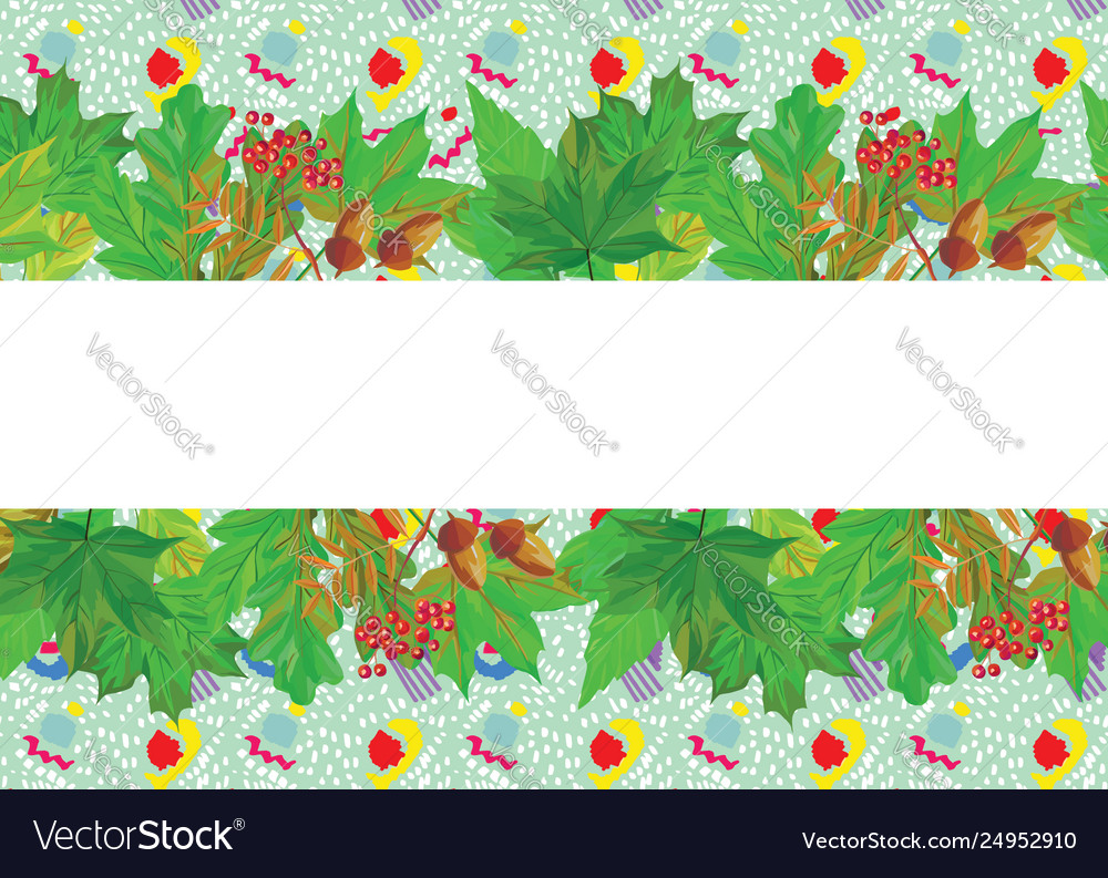 Green leaves cartoon background for text