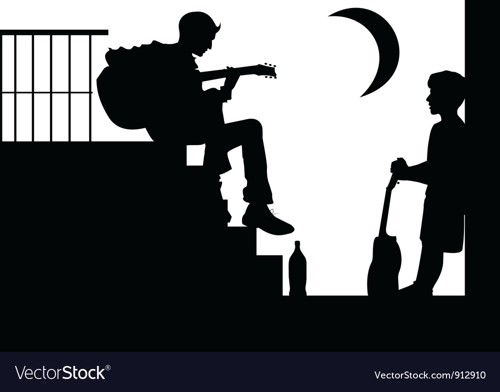 Musician and boy vector image