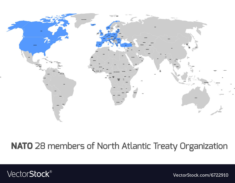 Nato member countries in world map royalty free vector image nato member countries in world map vector image gumiabroncs Gallery