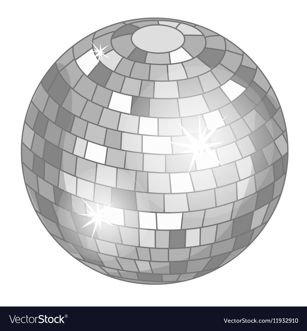 Silver mirror ball or discoball for party