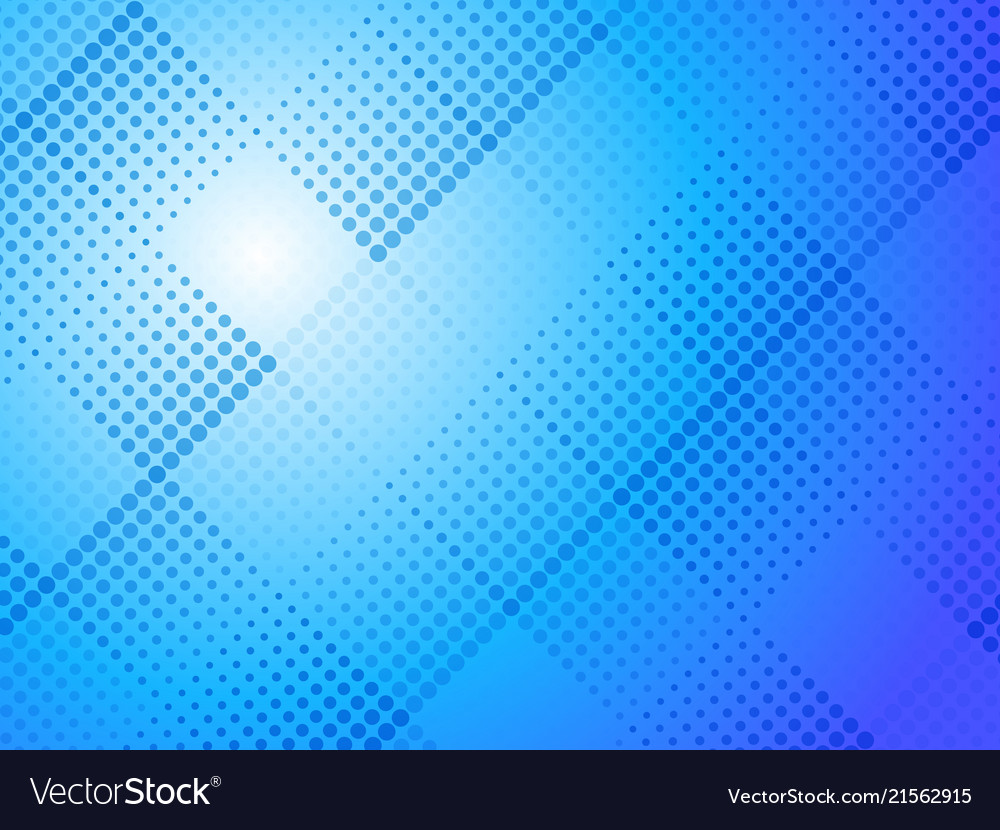Abstract blue halftone dots background