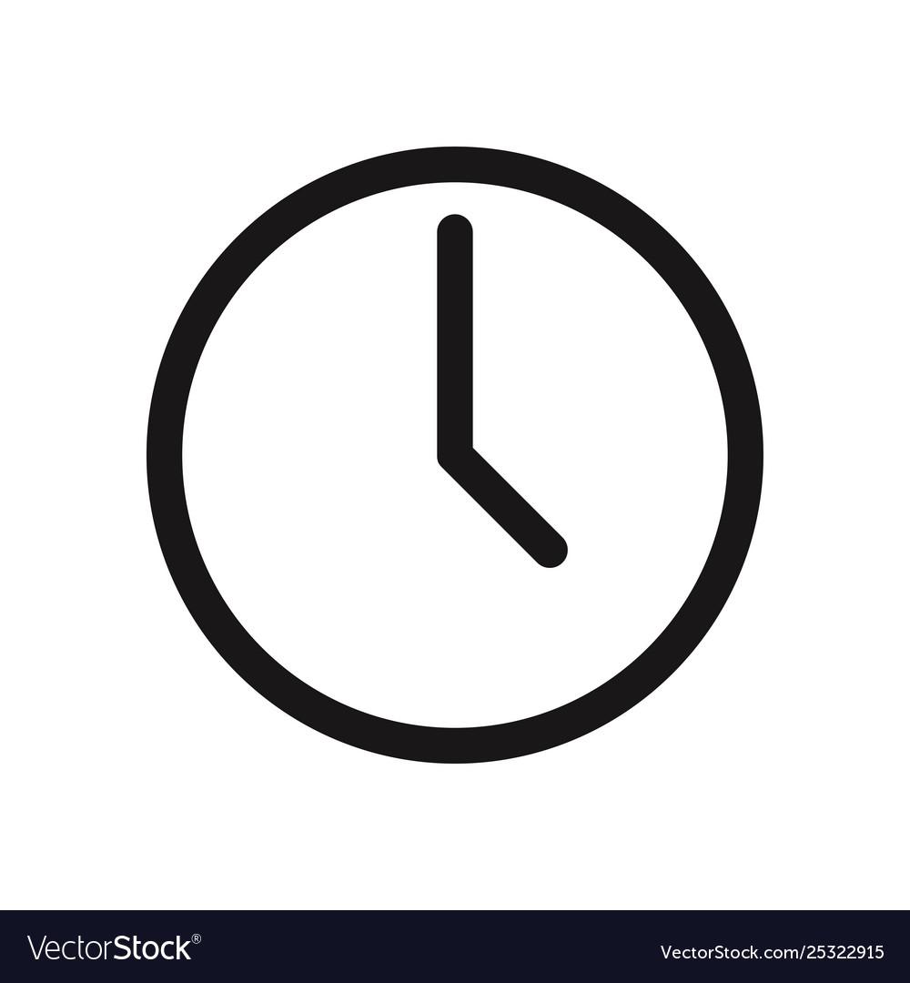 Clock icon Royalty Free Vector Image - VectorStock