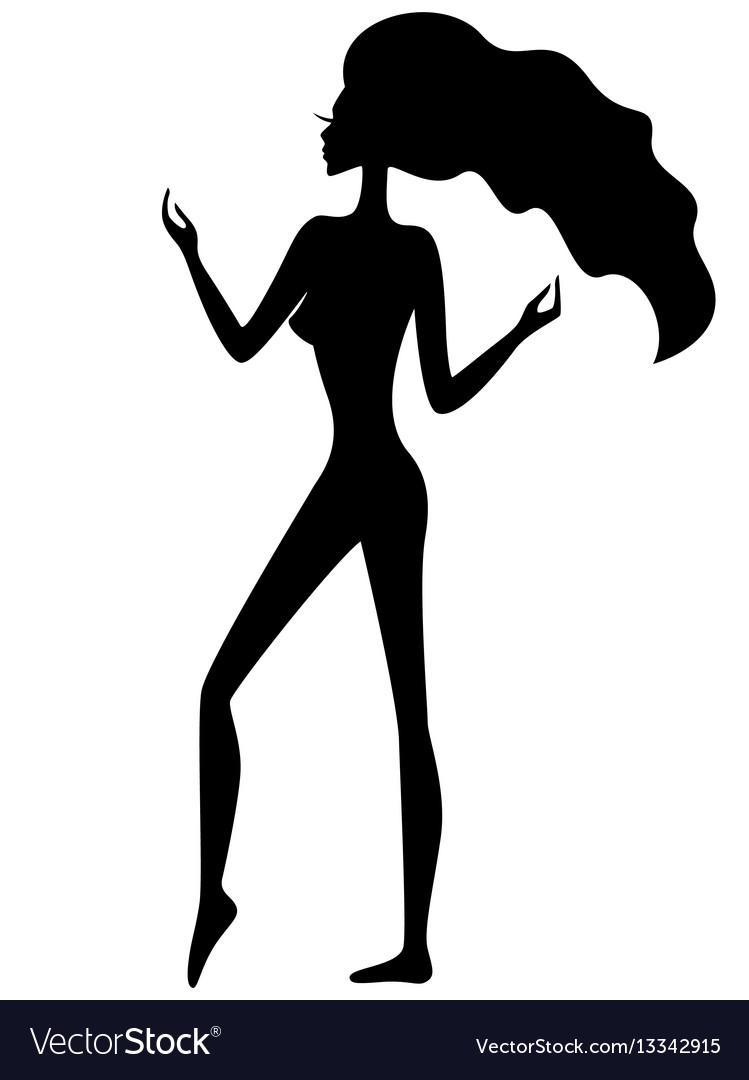 Graceful girl silhouette
