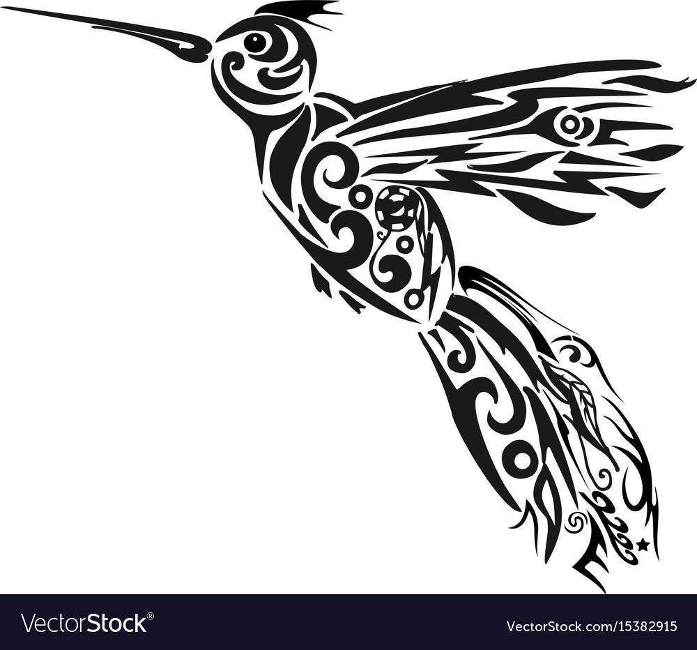Humming-bird of the flying bi vector image