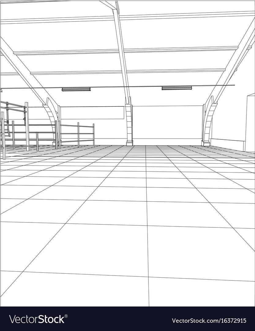 Industrial building constructions milk farm vector image