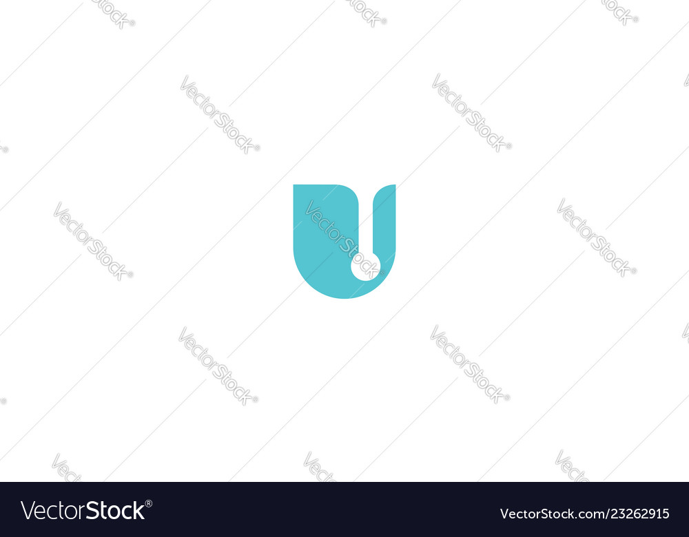 Initial u logo icon technology