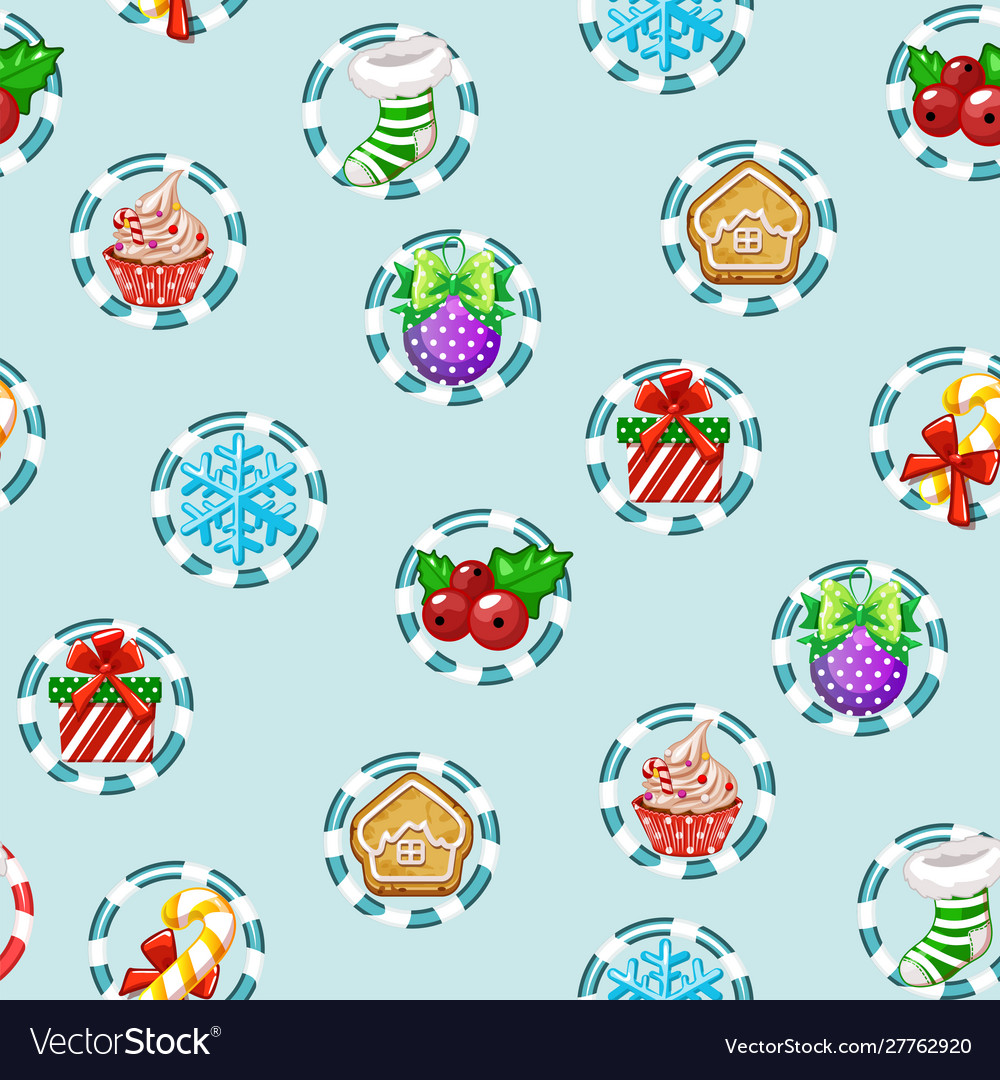 Christmas holiday seamless pattern with happy new