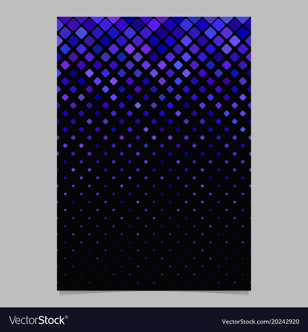 Geometrical diagonal square pattern page
