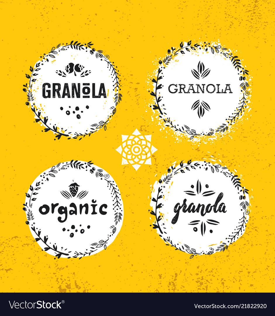 Healthy vegan snack granola cereal