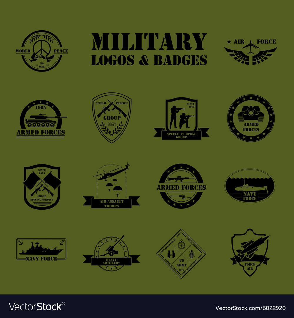 Military and armored vehicles logos and badges
