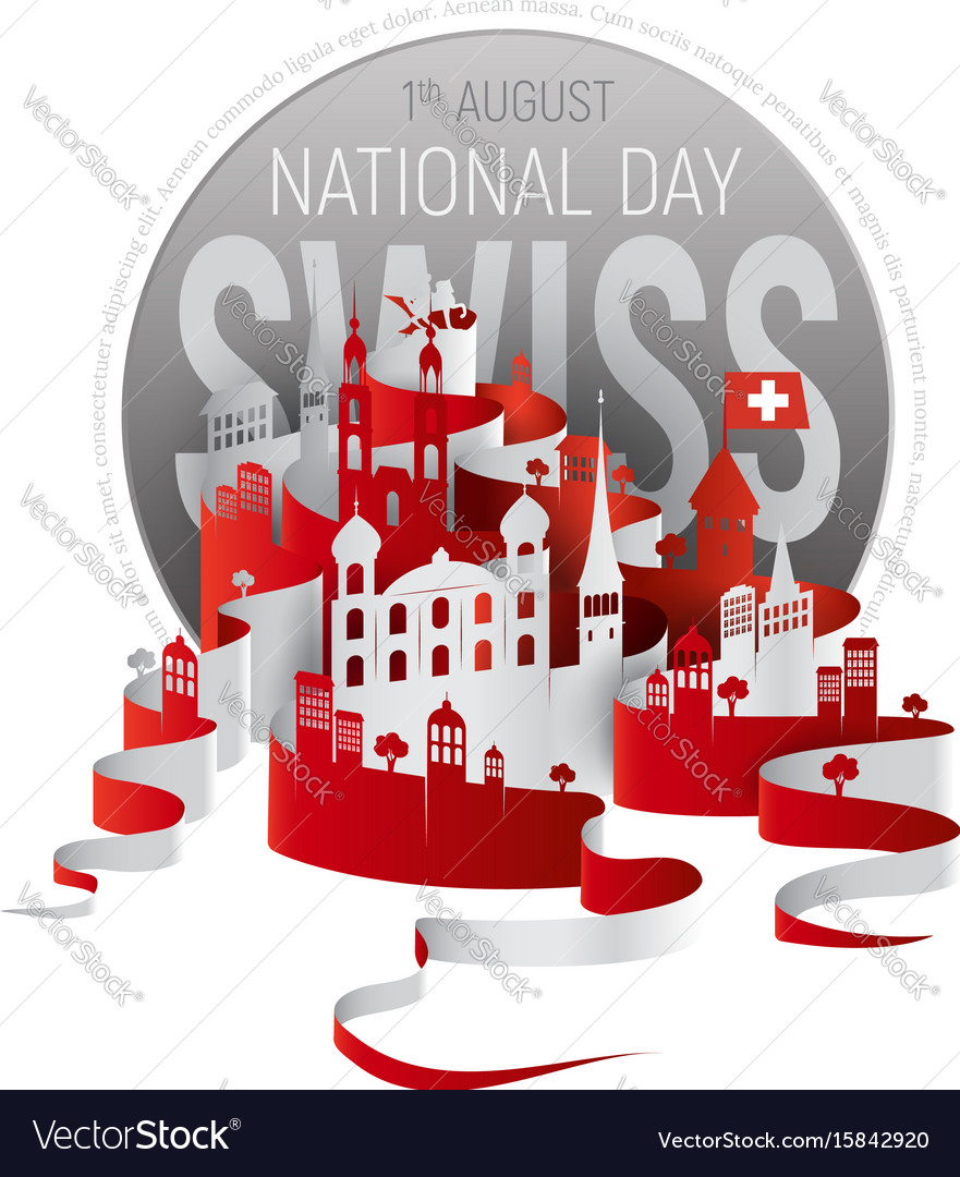 Poster or banner to the switzerland national day