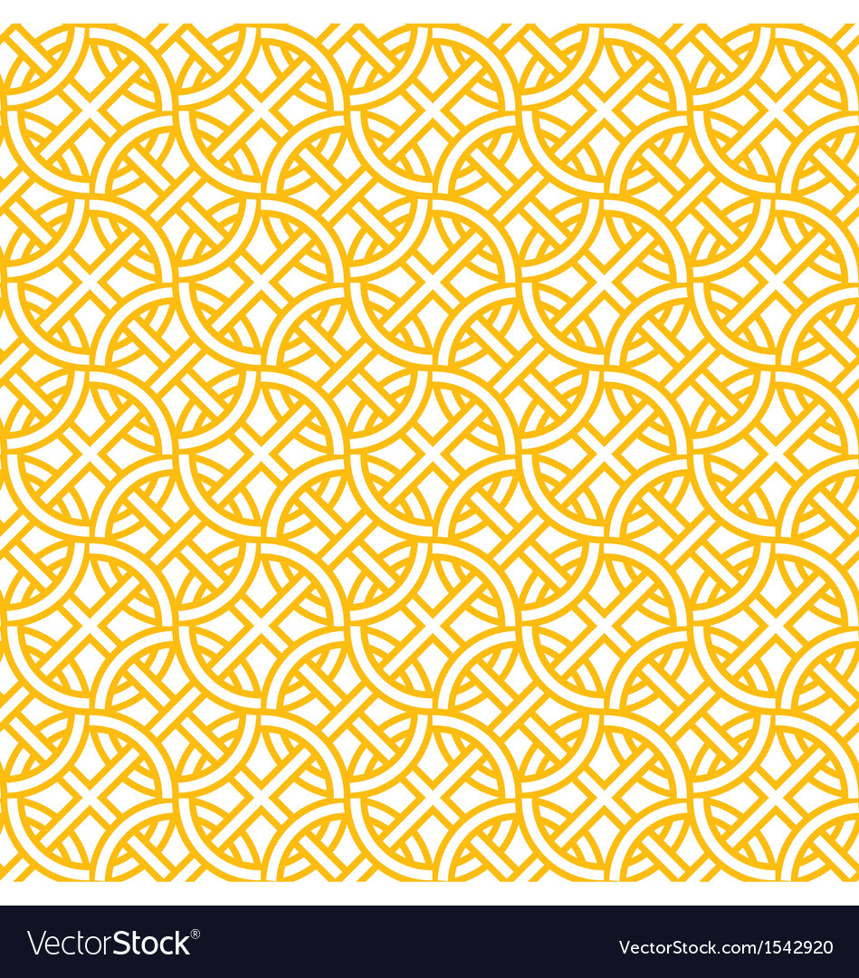 Yellow pattern vector image