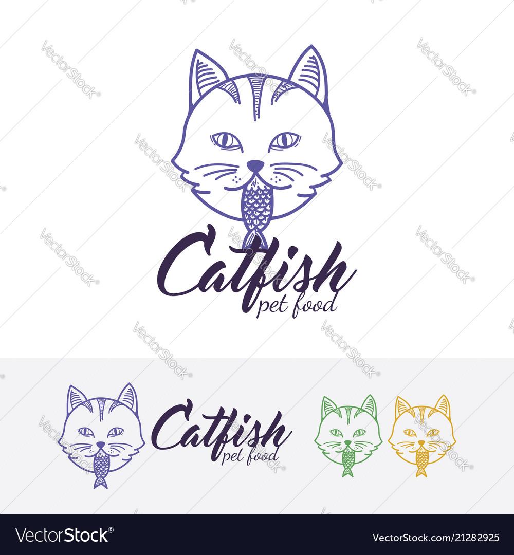 Cat food logo design