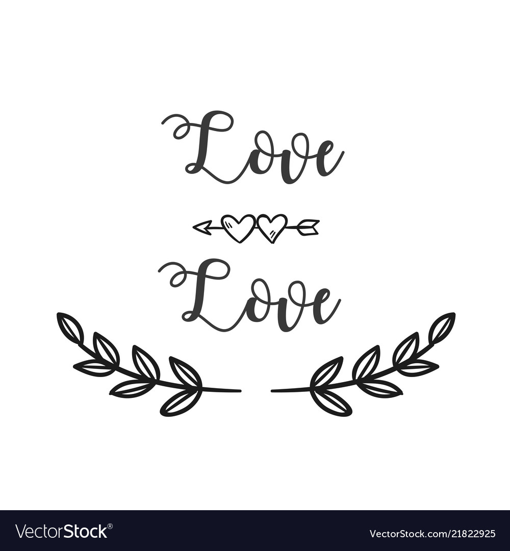 Love love arrow grass white background imag