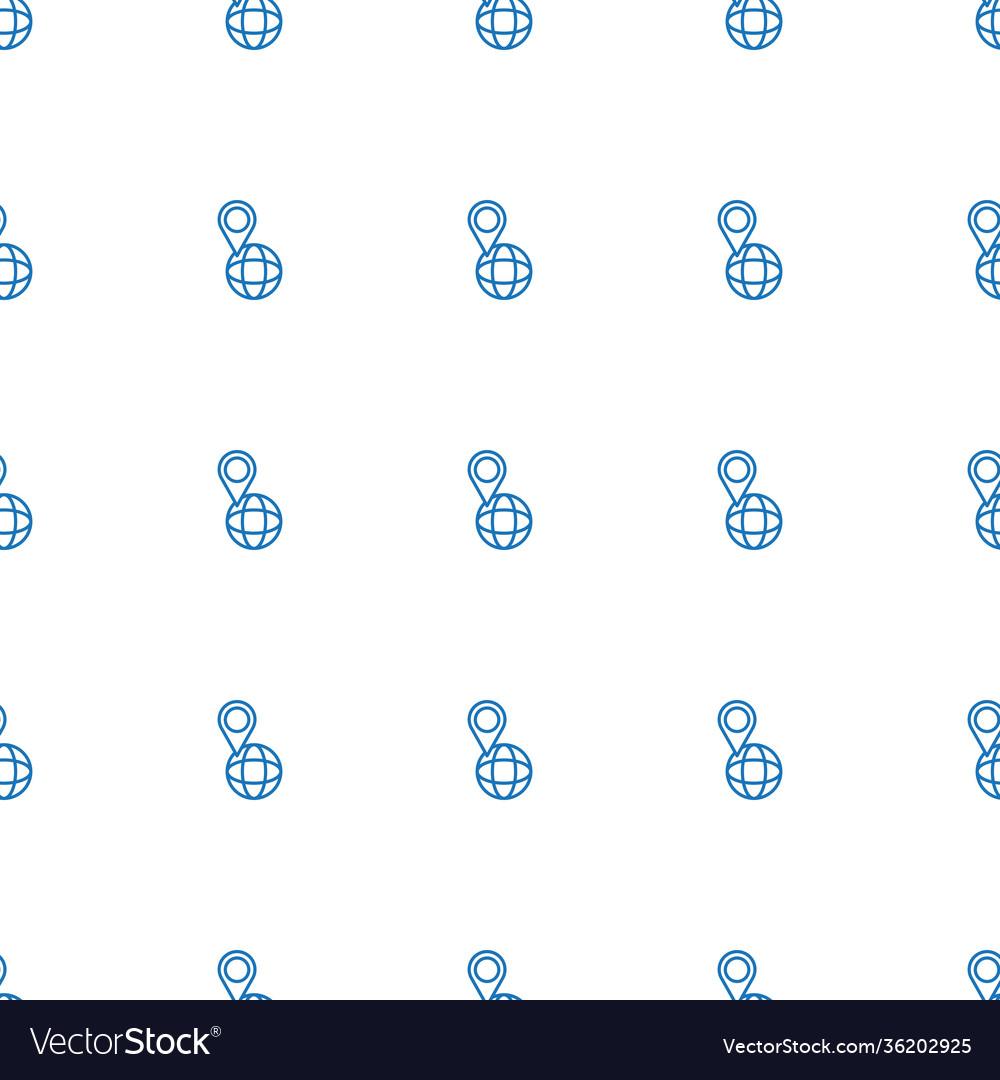 Pin on globe icon pattern seamless white