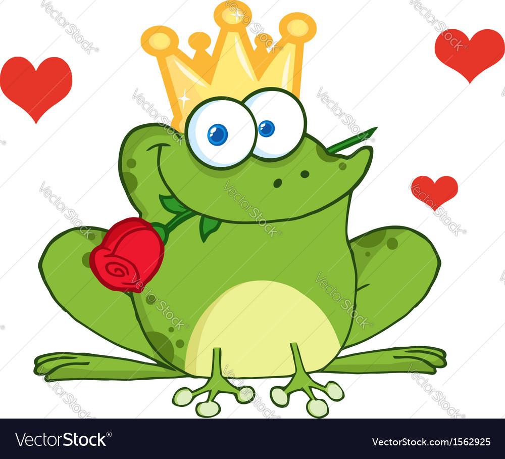 valentines frog cartoon royalty free vector image rh vectorstock com Tree Frog Vector Cute Frog Silhouette