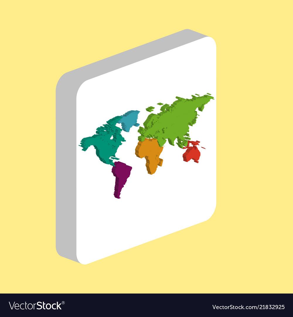 World map computer symbol