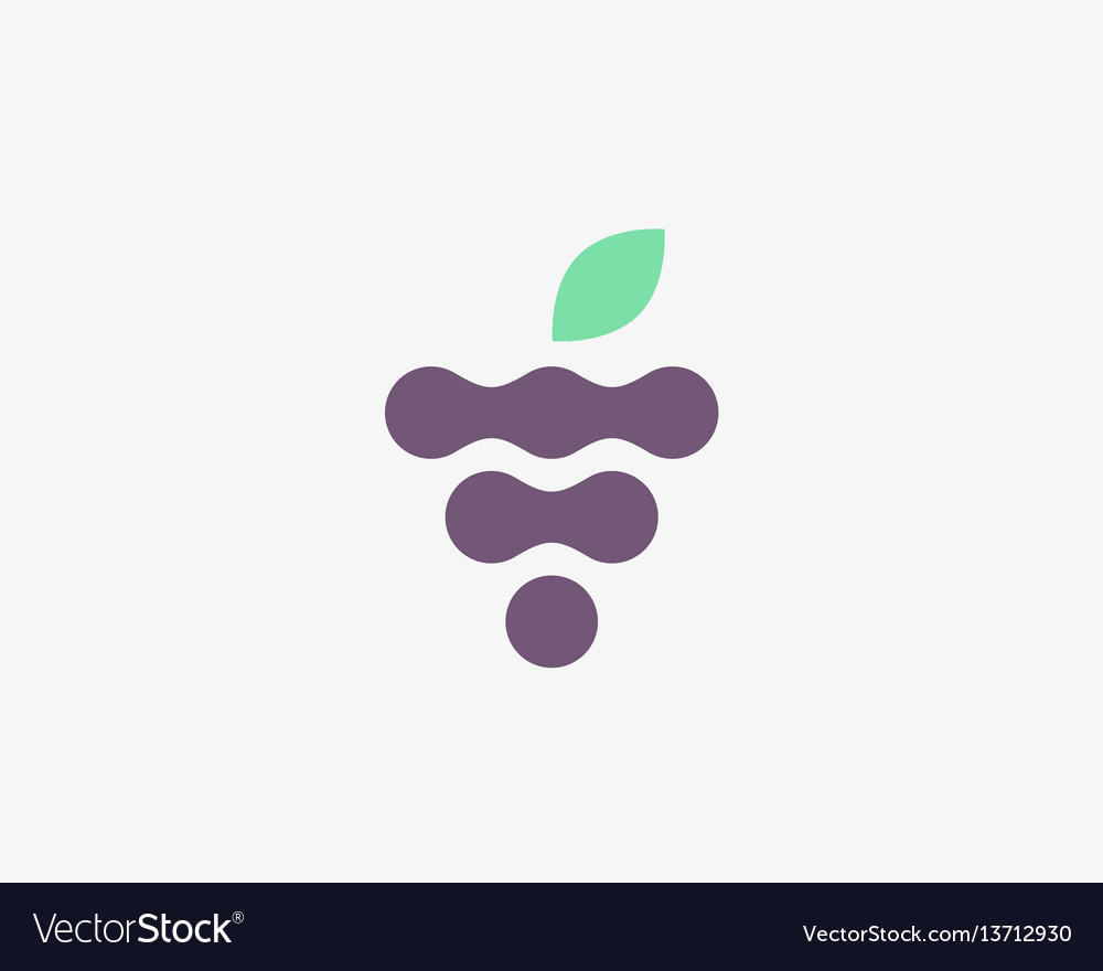 Abstract fruit leaf logo symbol icon wine vector image
