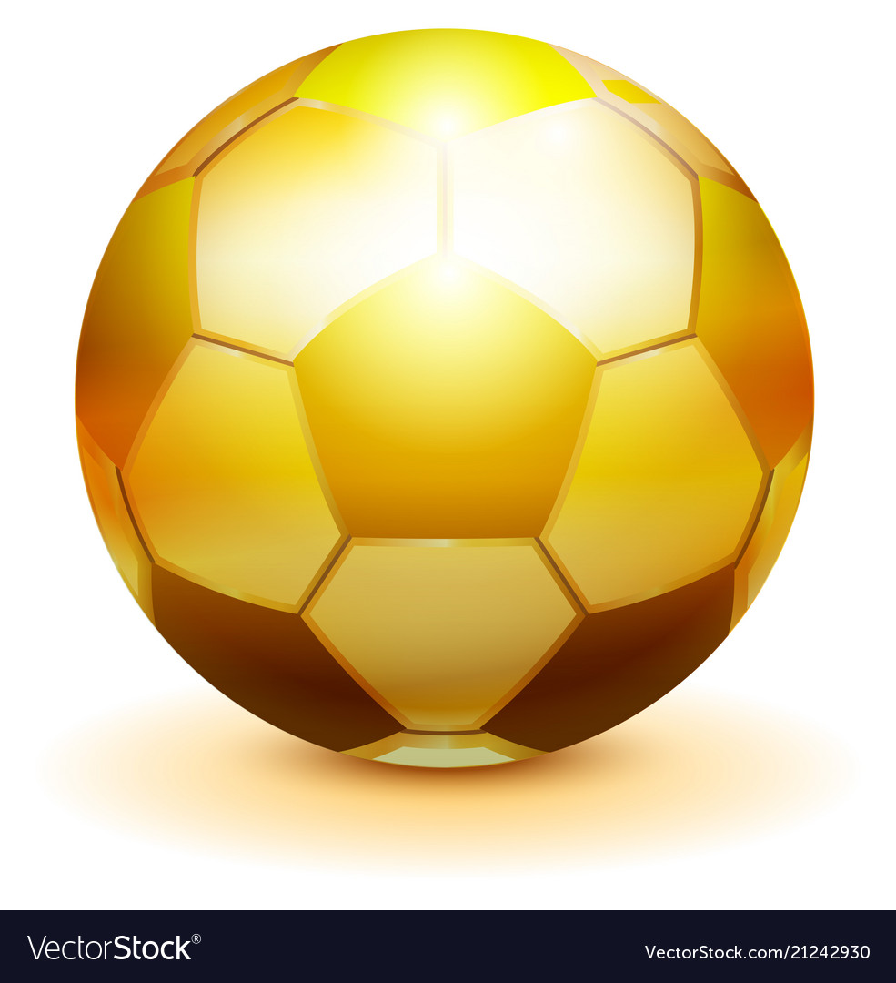 ab2821ff9 Golden soccer ball symbol of victory championship Vector Image
