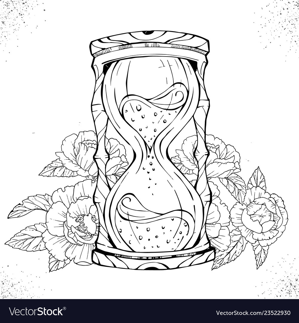 Hourglass Tattoo Vector Images 94