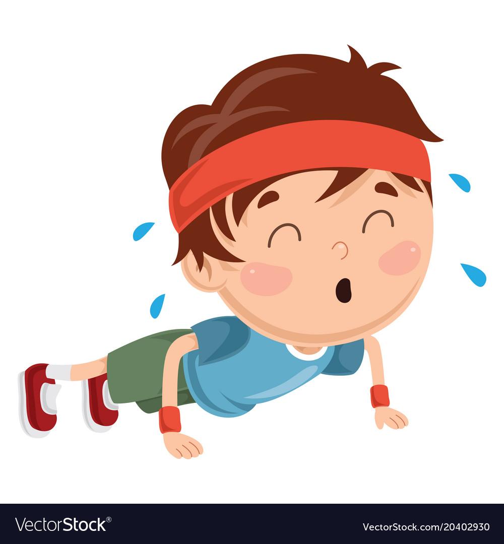 Kid pushing up