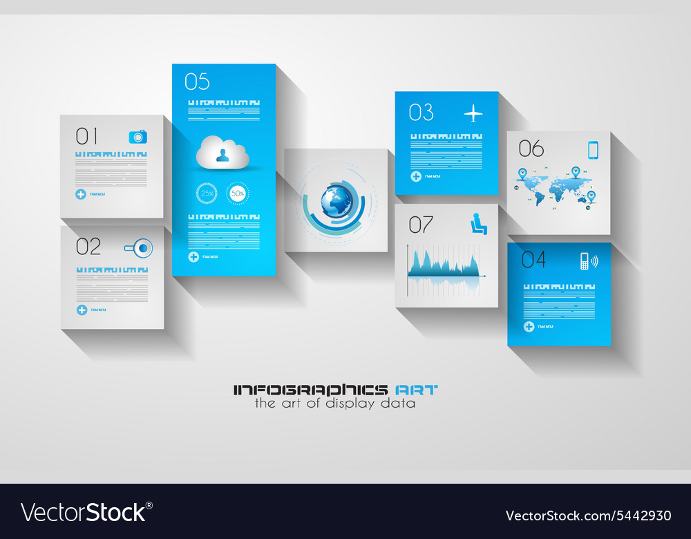 Modern UI Flat style infographic layout for data
