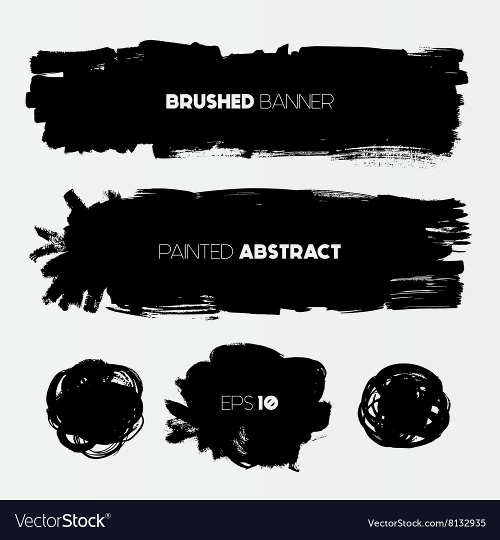 Abstract grunge banners vector image