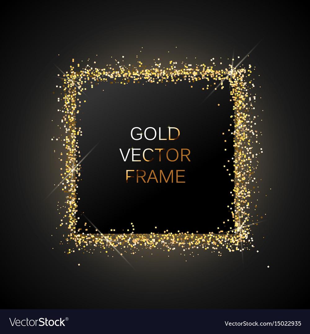 Gold glitter frame