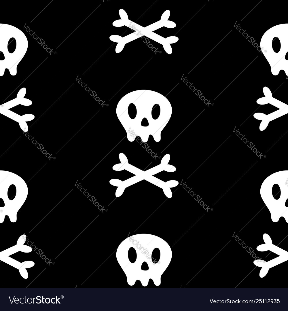 Skull with bone crosswise icon white crossbones