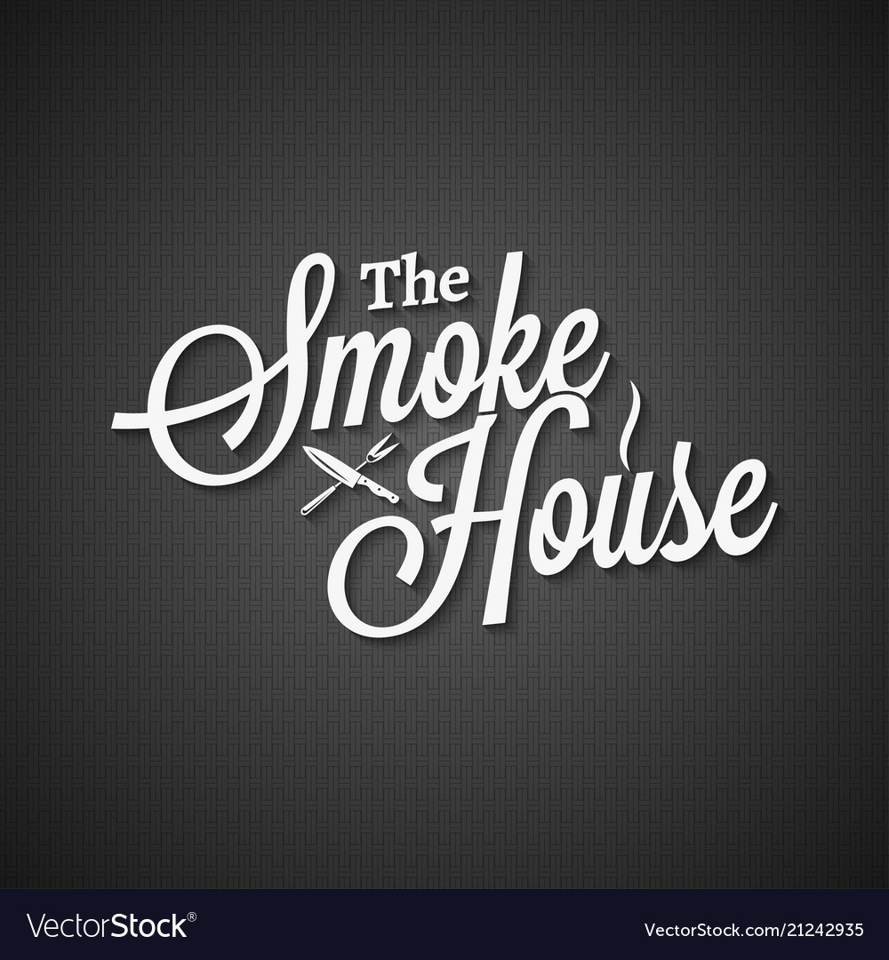 Smokehouse vintage lettering on black background