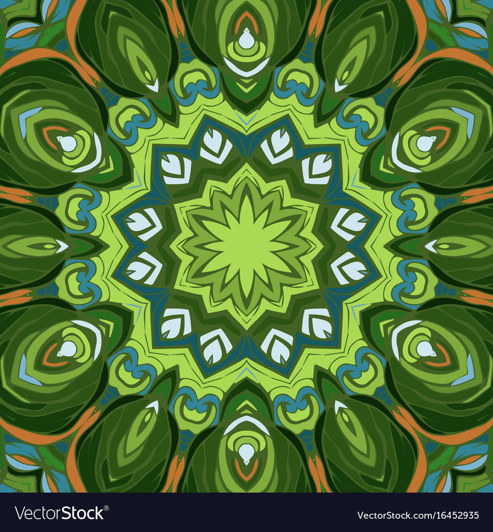 Vintage seamless pattern mandala ornament