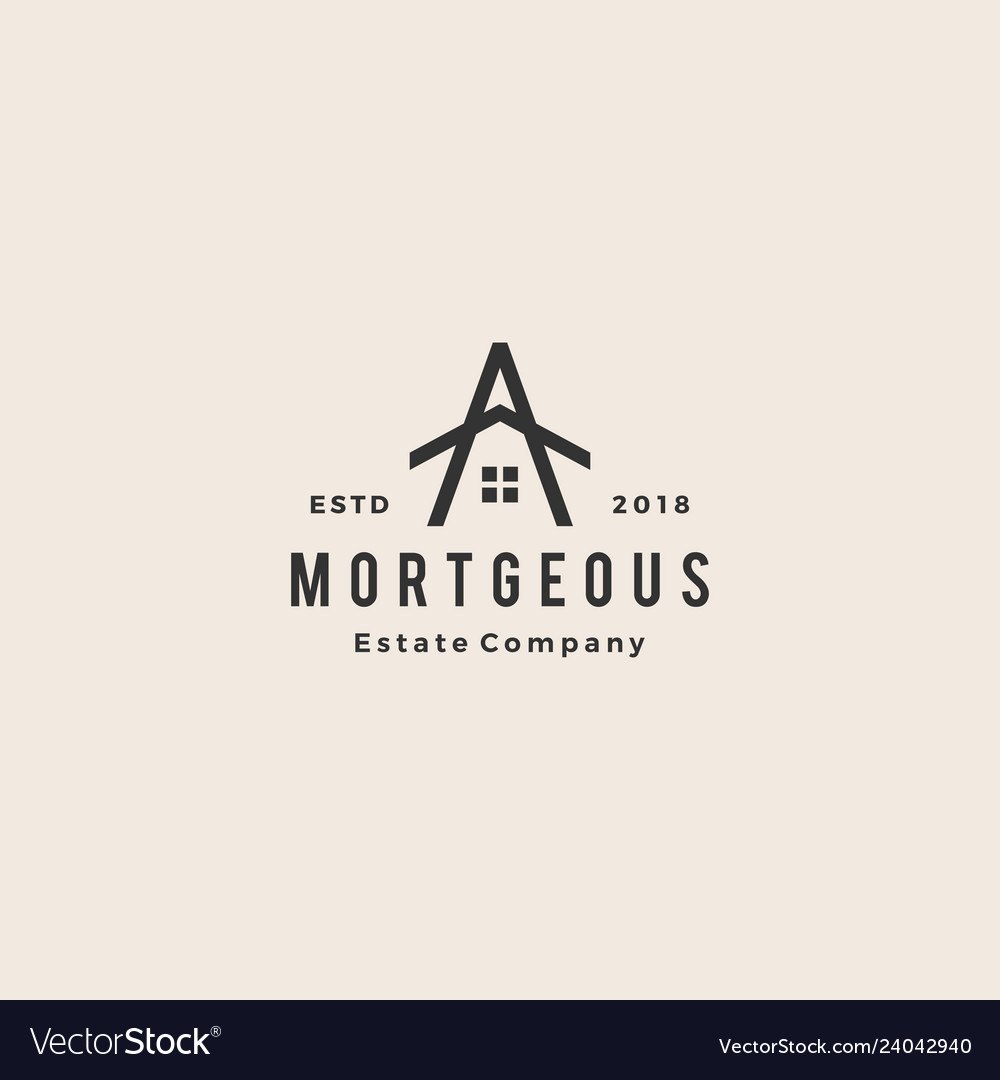 A letter house home mortgage real estate hipster