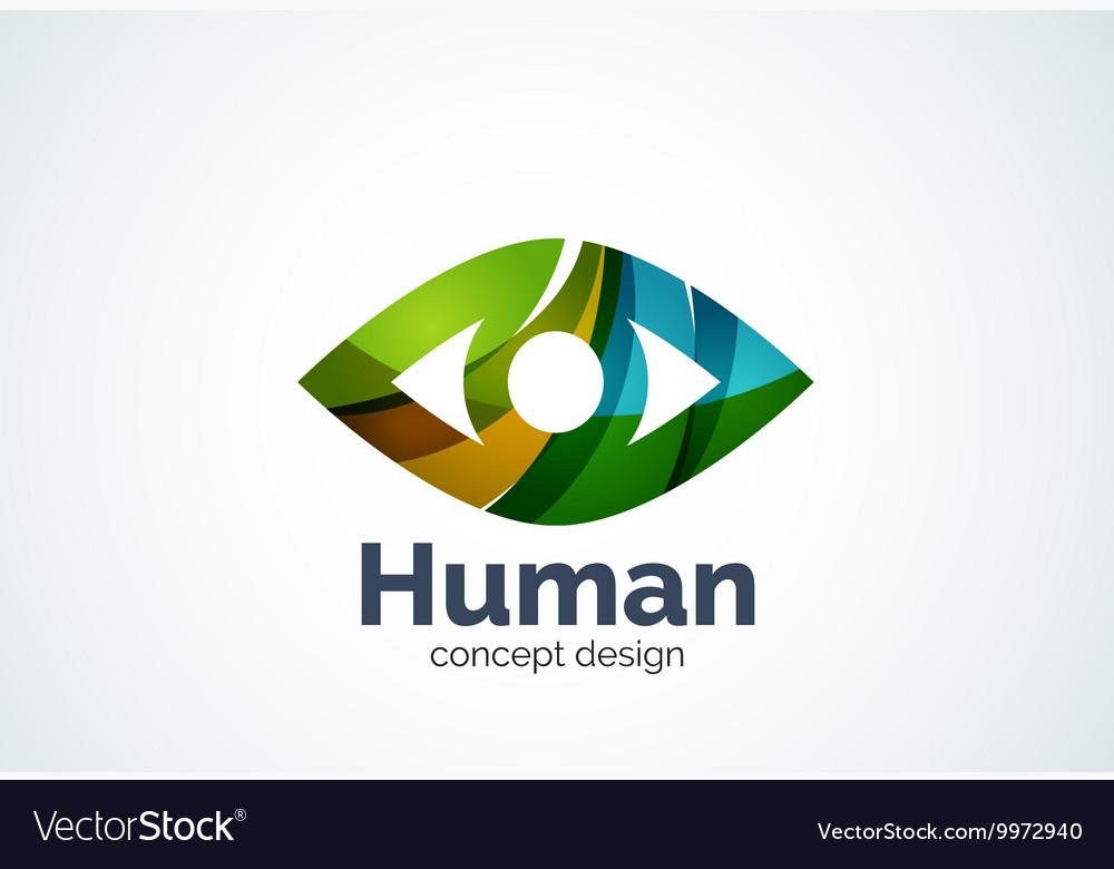 Abstract business company human eye logo template vector image wajeb Choice Image